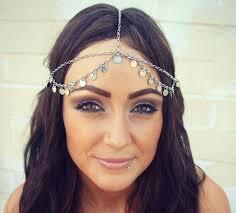 chain headpiece chain headpiece chain silver disc chain headdress headpiece