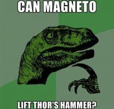marvel can magneto lift thor s hammer science fiction fantasy