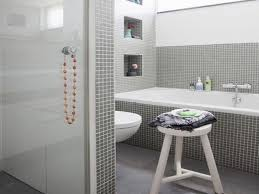 attractive modern grey bathroom ideas with rectangle standart tub