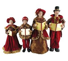 set of 4 20 to 27 carolers by santa s workshop qvc