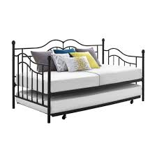 Black Daybed With Trundle Essential Home Scroll Daybed With Trundle Shop Your Way