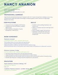 physician assistant sample resume an example of a resume corybantic us example of best resume format 2017 resume format 2017 example of an objective on