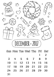 December 2017 Calendar Coloring Page Free Printable Coloring Pages Sw Coloring Page
