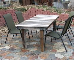 Patio Table Glass Shattered Slate Patio Table Original Glass Top Was Shattered So I Replaced
