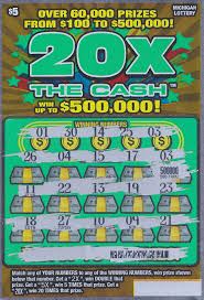 Lottery Instant Wins - player wins 500 000 on 20x the cash instant game ticket bought in