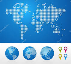 Simple Vector World Map by Atlas Stock Vectors Royalty Free Atlas Illustrations Depositphotos