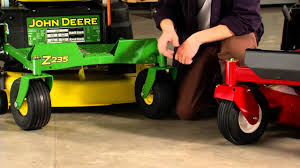 zero turn riding lawn mower comparison toro vs john deere youtube