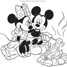 mickey friends camping coloring pages spoonful coloring