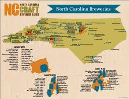 Lexington And Concord Map North Carolina U0027s Craft Breweries North Carolina Craft Brewers Guild