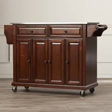 kitchen islands on casters casters kitchen islands carts you ll wayfair ca