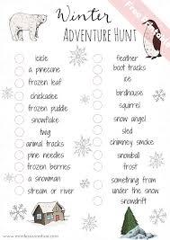 outdoor winter activities for kids montessori nature