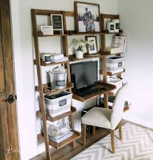 Desk Wall Organizer White Leaning Wall Ladder Desk Diy Projects