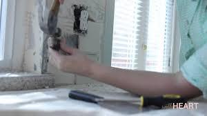 kitchen backsplash tiles how to remove a tile backsplash withheart youtube