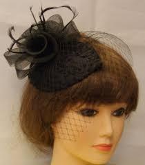 vintage 1940s 50 fascinator veil race hat black tear drop hat mini