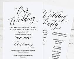 Easy Wedding Program Template Printable Navy Wedding Program Template Rustic Wedding