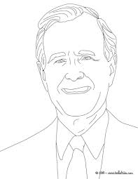 president george bush father coloring pages hellokids com