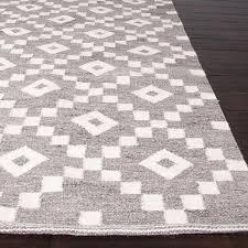 weave geometric pattern grey ivory wool area rug