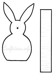 craft template easter bunny egg holder easter