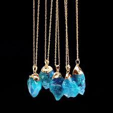crystal necklace gold chain images Wholesale new colorful irregular shape crystal natural stone jpg