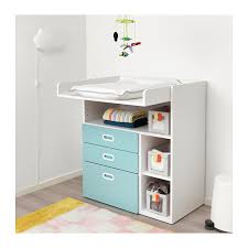 Blue Changing Table Fritids Stuva Changing Table With Drawers White Light Blue