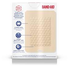 band aid brand adhesive pads large 10 count walmart com