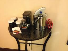 Coffee Maker Table Table And Coffee Maker In Room Picture Of Crowne Plaza Hotel