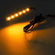led light strip turn signal 2x mini strip black led motorcycle turn signal universal amber