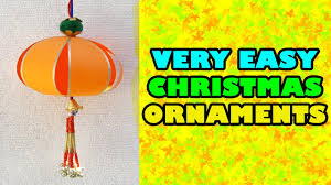 how to make very easy christmas ornaments with paper christmas