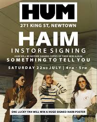 haim poster australia haim are doing a signing in sydney this saturday
