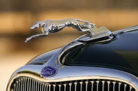 metallic sculpture 1933 ford greyhound ornament dear