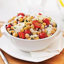 cuisiner les pois chiches salade de pois chiches à la méditerranéenne recettes cuisine et