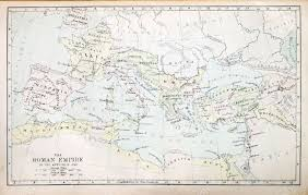 Map Of The Roman Empire Map Of The Roman Empire In The Apostolic Age From A Nineteenth