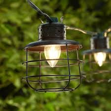 String Lights Outdoor Wedding by Amazon Com Metal Cage Lantern String Party Lights 10 Light