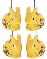 slash prices on rabbit ornament set of 2