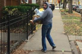 package thief on the loose in lincoln square caught on video