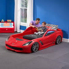 Blue Twin Bed by Corvette Z06 Toddler To Twin Bed With Lights U2013 Blue Digger