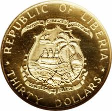30 dollars president tubman liberia u2013 numista