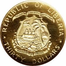 twenty five dollars 30 dollars president tubman liberia u2013 numista
