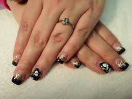 pittsburgh penguin nail art by the bling the purple pinkie