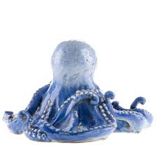 blue ceramic octopus sculpture shop ceccarelli online at artemest