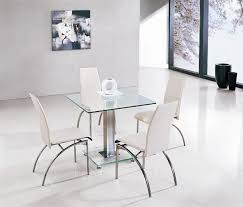 square glass table dining jet ice square glass dining table and 4 chairs furniture italia