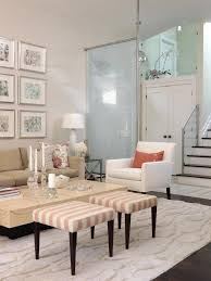 sarah s house hgtv white living room with striped stools