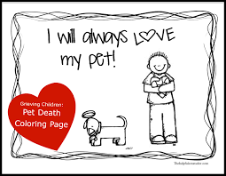 dealing with grief grieving child pet death activity the