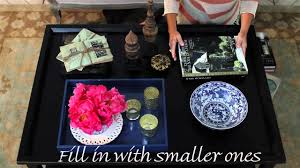 how to decorate a coffee table youtube