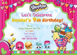 birthday invitation themes shopkins birthday invitations lilbibby com