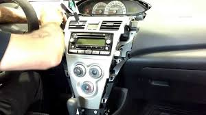 07 toyota yaris sedan radio removal youtube