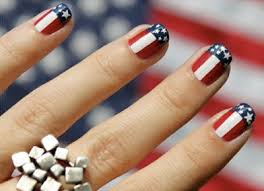 get patriotic with red white and blue nail art designs hair