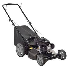 poulan 21 in walk behind manual push gas mower with kohler 675ohv