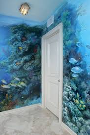Designing A Wall Mural Best 25 Aquarium Mural Ideas On Pinterest Plongeur Décorations
