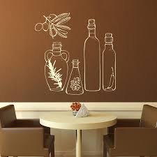 Dining Room Wall Cool Dining Room Interior Design With White Bottle Glass Wall Art